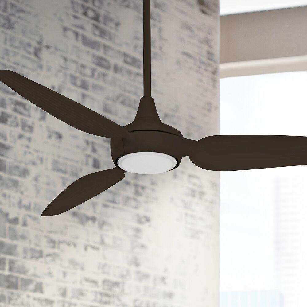 "Minka Aire 60"" Minka Aire Seacrest Bronze LED Outdoor Smart Ceiling Fan - Style # 86F14"