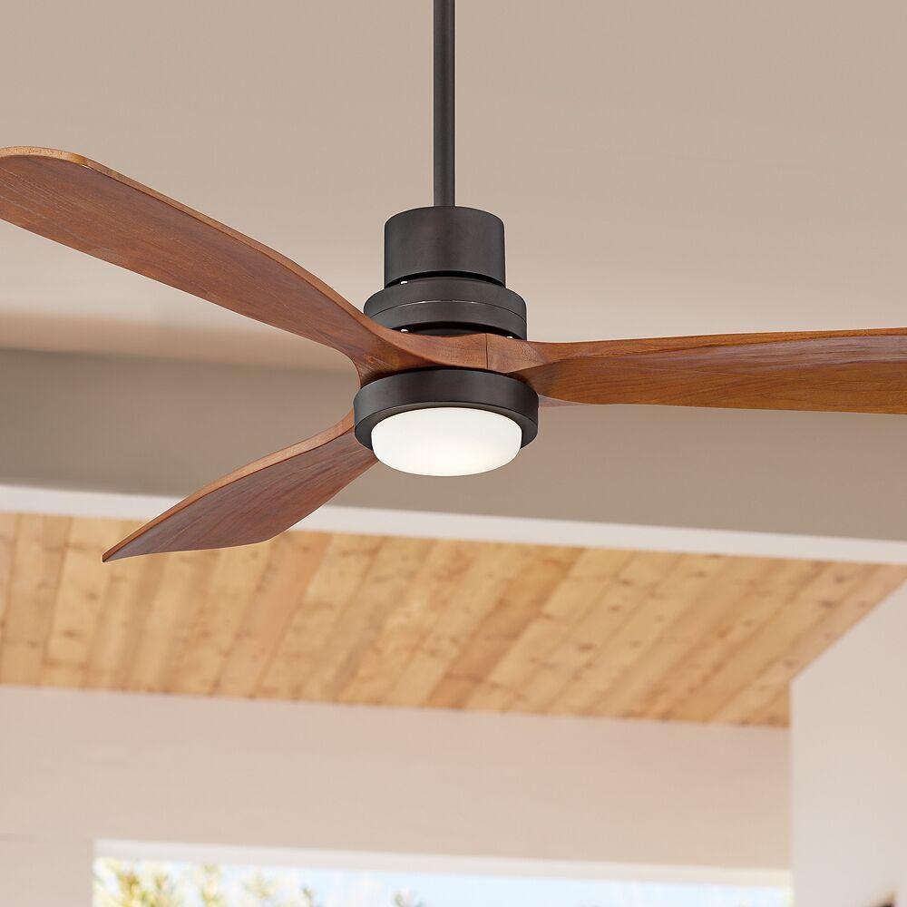 "Casa Vieja 52"" Casa Delta-Wing Bronze Outdoor LED Ceiling Fan - Style # 9C710"