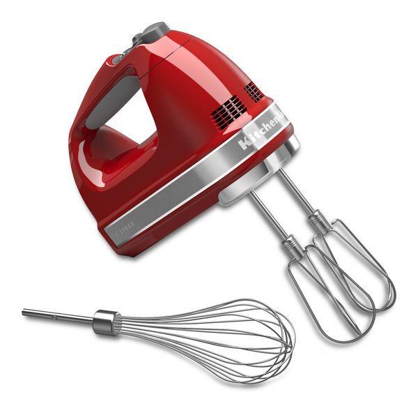 KitchenAid 7-Speed Hand Mixer in Empire Red