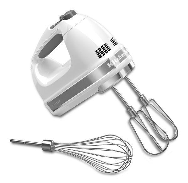 KitchenAid 7-Speed Hand Mixer in White