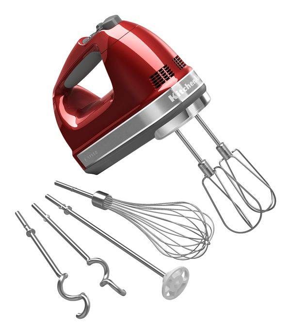 KitchenAid 9-Speed Hand Mixer in Candy Apple Red