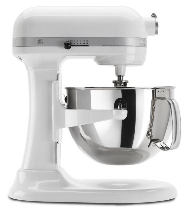 KitchenAid Pro 600™ Series 6 Quart Bowl-Lift Stand Mixer in White