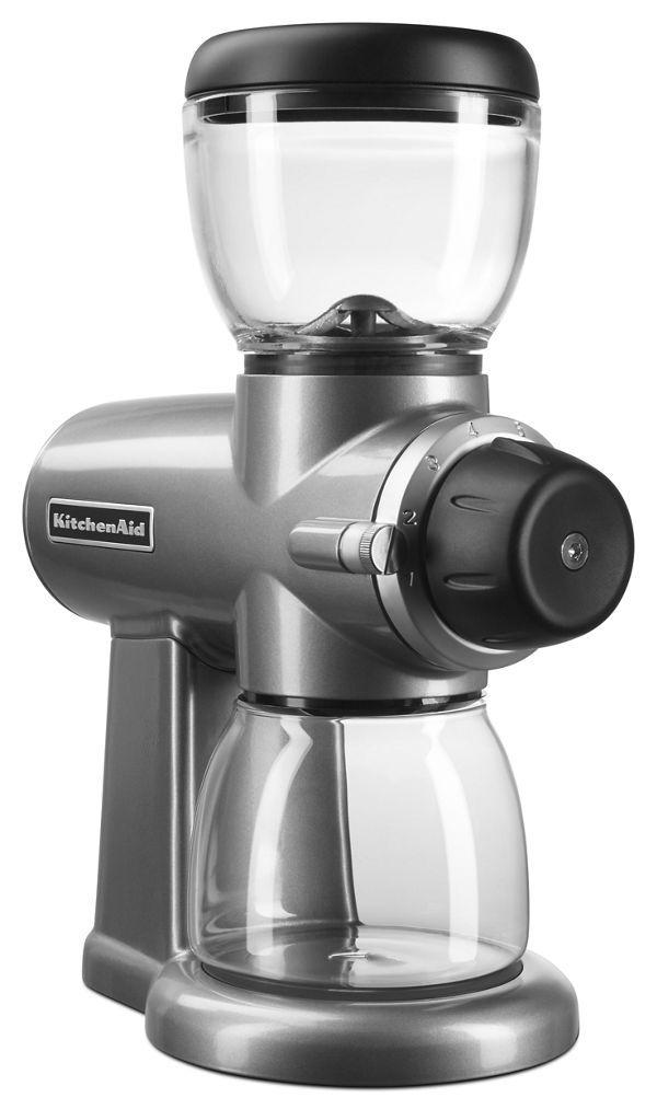 KitchenAid Burr Coffee Grinder in Contour Silver