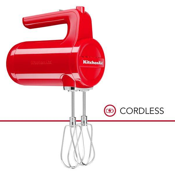 KitchenAid Cordless 7 Speed Hand Mixer in Passion Red