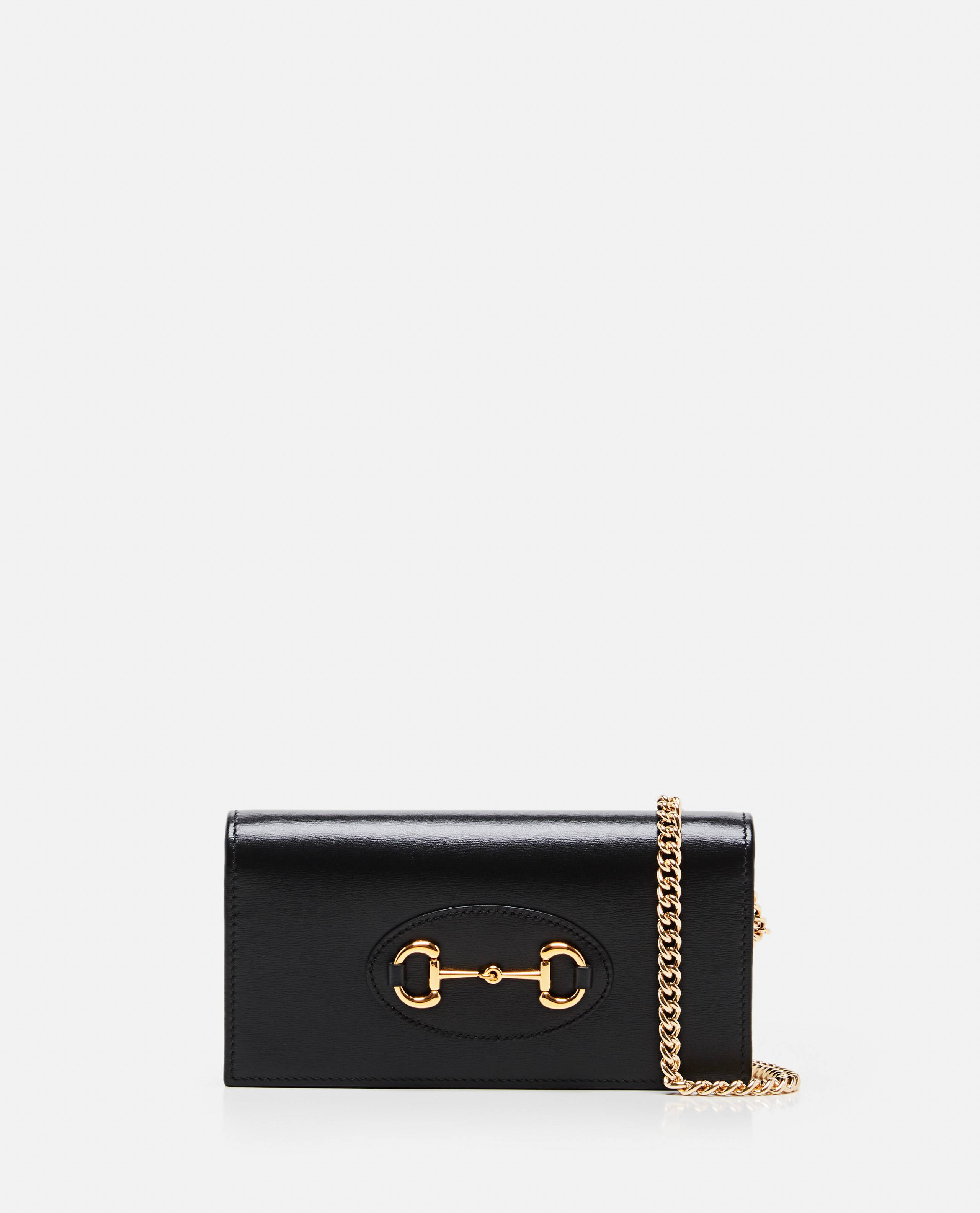 Gucci Horsebit 1955 wallet with chain - Black - female - Size: One Size