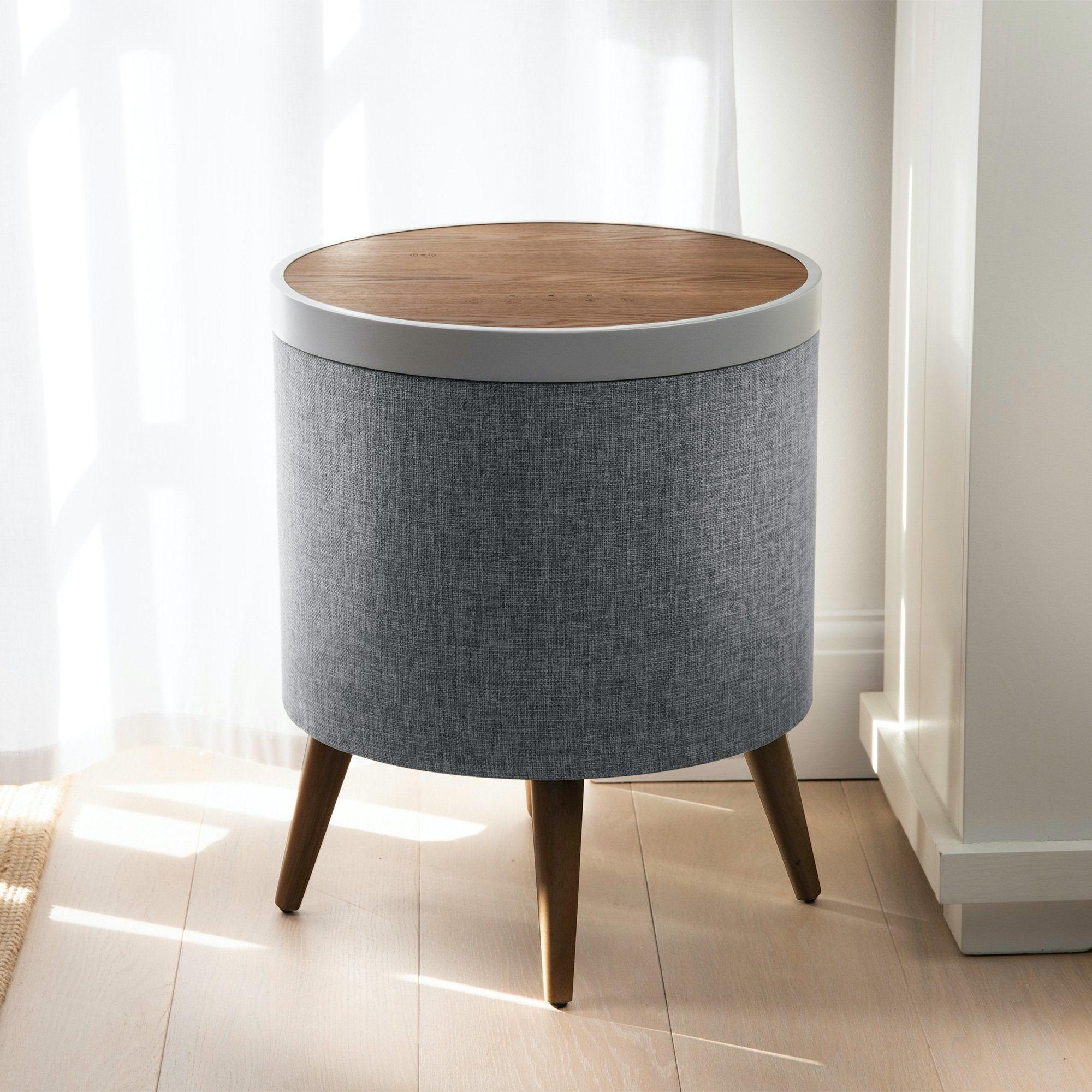 Forward Industries Koble Zain Smart Side Table w/ 360 Bluetooth Speaker and Subwoofer in Oak