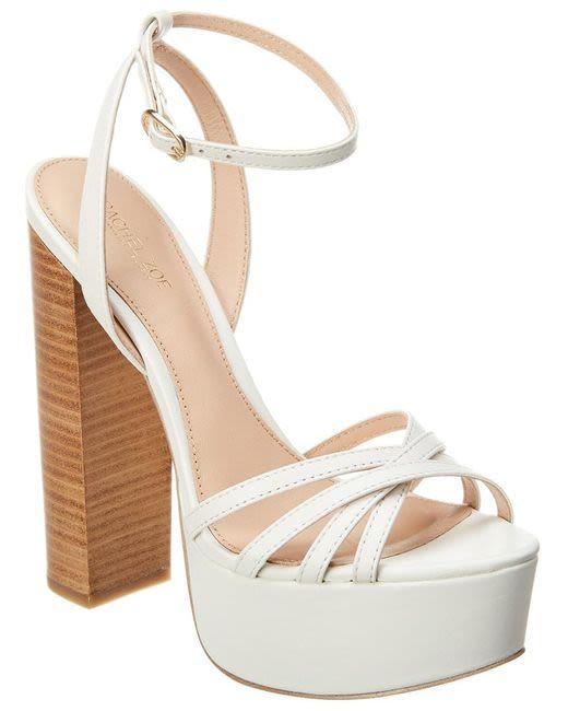 Rachel Zoe Charlotte Platform Sandal - White (Size 5)