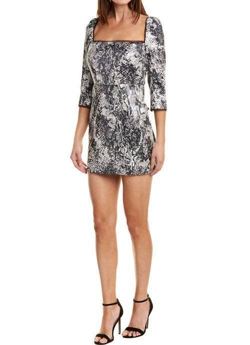 Rachel Zoe Chiara Dress - Black / Ecru / Grey (Size 0)