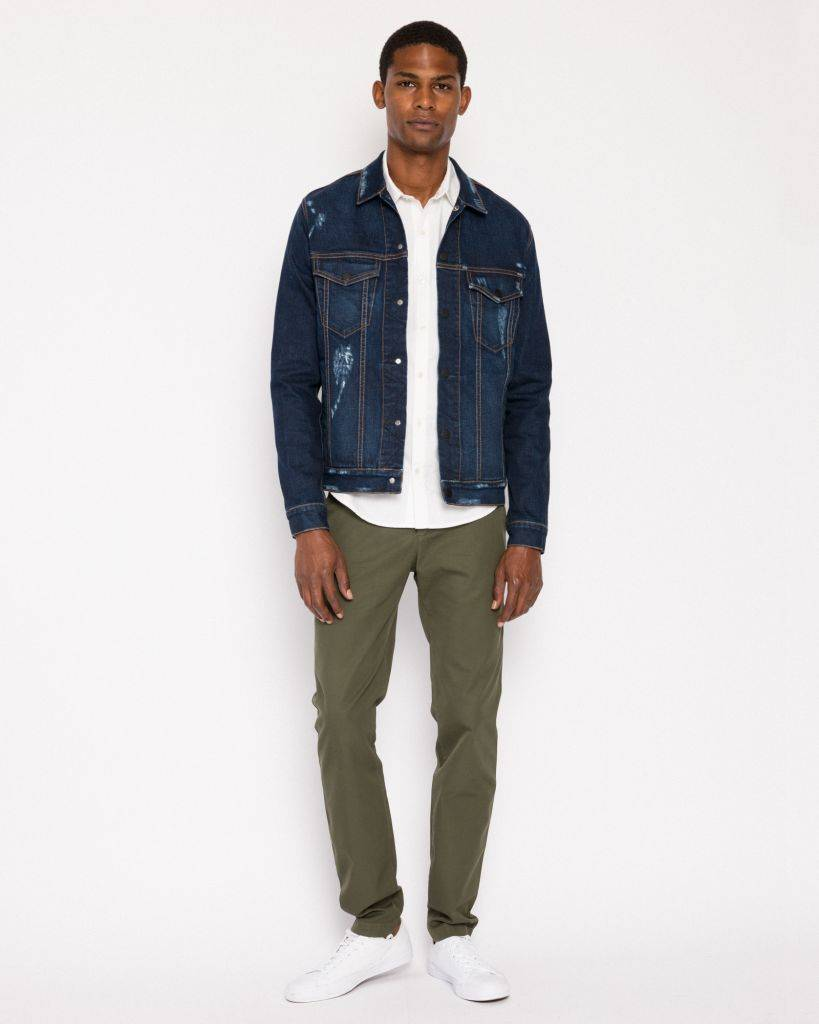 Mercy&Loyal Chino Cotton Pants - Green (size 32)