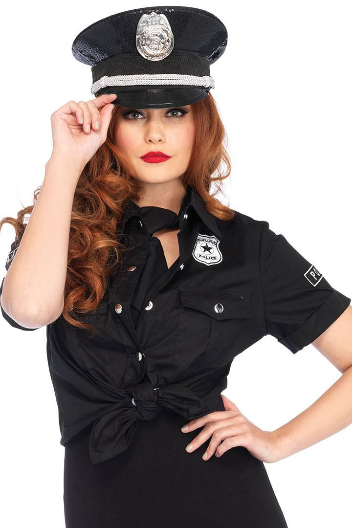 Leg Avenue Police Shirt with Badge Costume Accessory