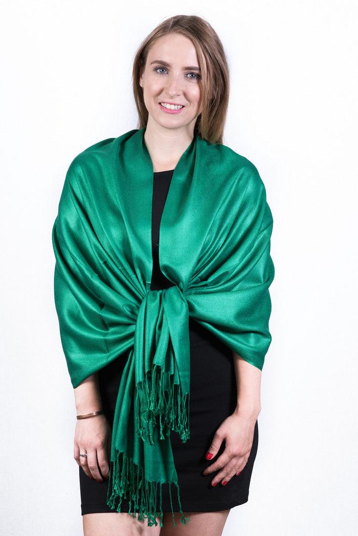 FashionAnything.com Silky Soft Solid Pashmina Scarf Dark Green Dozen (12 Pcs)