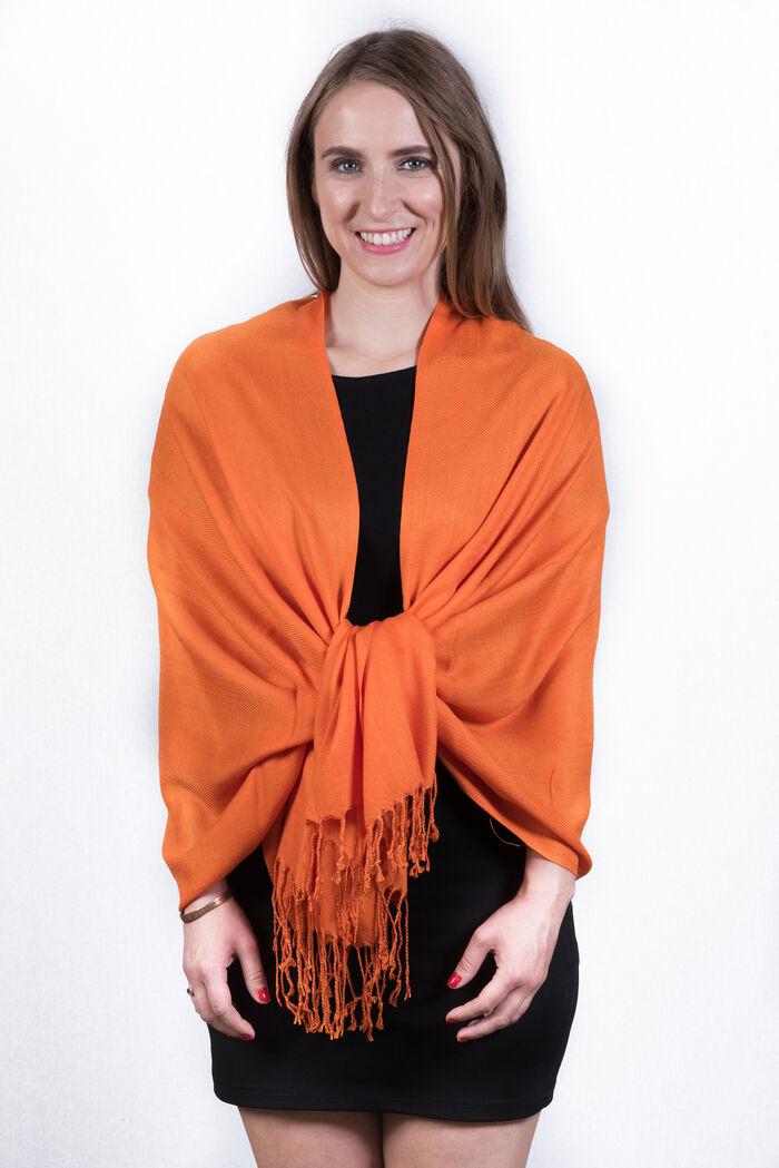 FashionAnything.com Silky Soft Solid Pashmina Scarf Orange Dozen (12 Pcs)