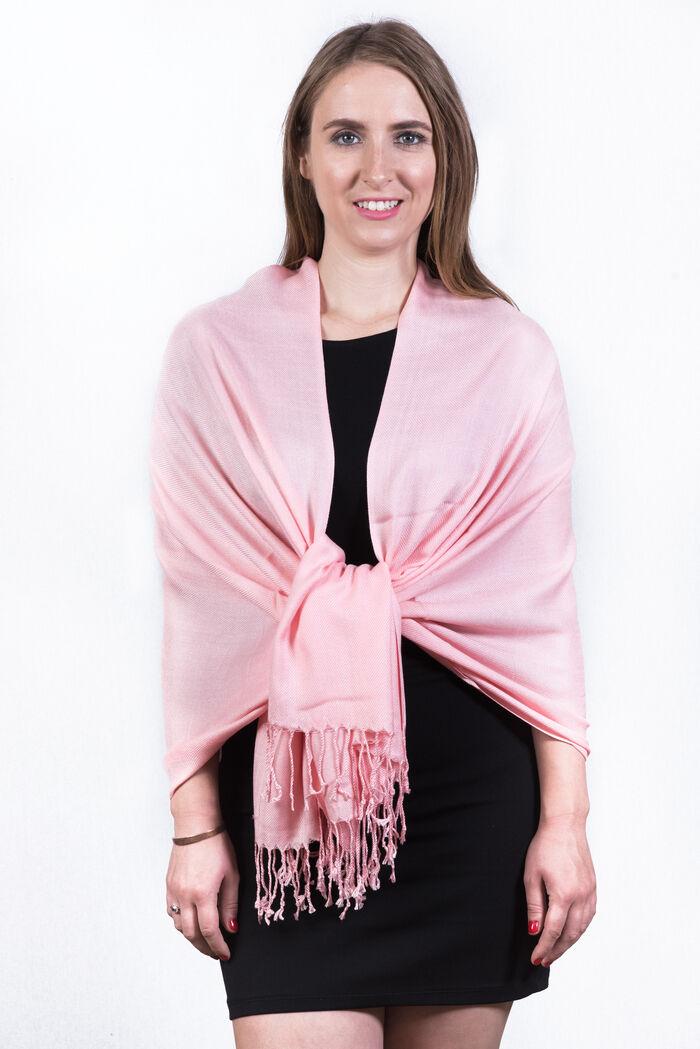 FashionAnything.com Silky Soft Solid Pashmina Scarf Peach Pink Dozen (12 Pcs)