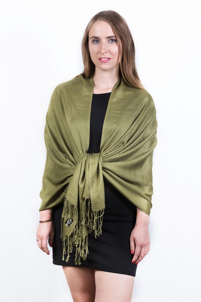 FashionAnything.com Olive Green Solid Pashmina Scarf Dozen (12 Pcs)