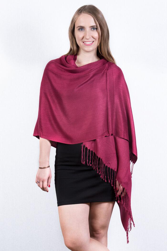 FashionAnything.com Ruby Solid Pashmina Scarf Dozen (12 Pcs)
