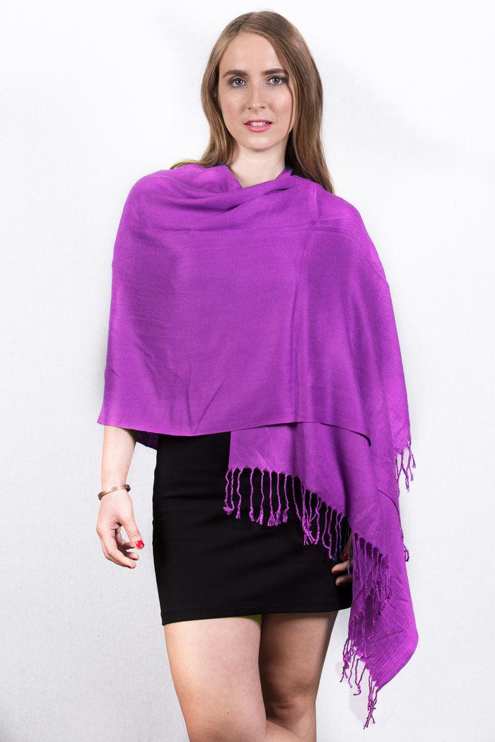 FashionAnything.com Purple Pashmina Scarf Dozen (12 Pcs)