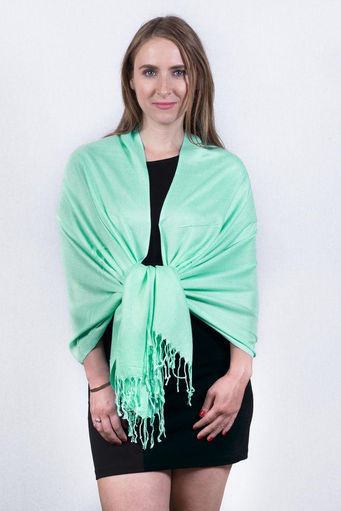 FashionAnything.com Silky Soft Solid Pashmina Scarf Mint Dozen (12 Pcs)
