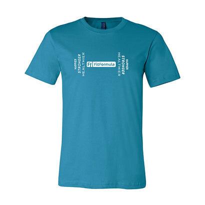 FitFormula Wellness FitFormula T-Shirt Unisex Jersey Short Sleeve Tee - L / Aqua