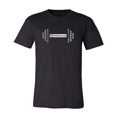 FitFormula Wellness FitFormula T-Shirt Unisex Jersey Short Sleeve Tee - L / Black
