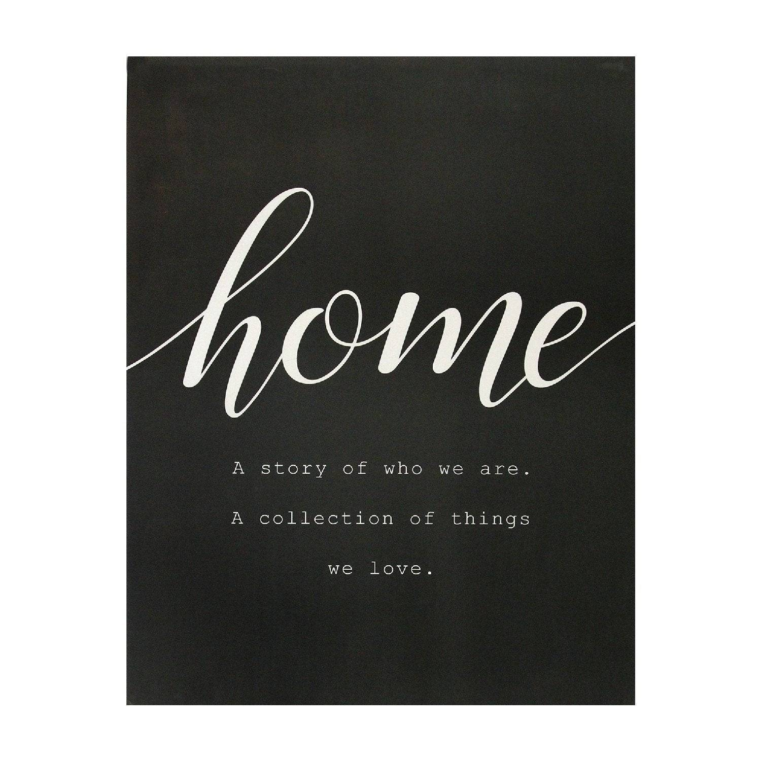 Home Quote Oversized Wall Art