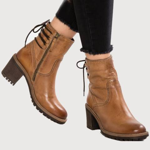 ShoesSee Inc Plain  Chunky  High Heeled  Round Toe  Date Outdoor  Short High Heels Boots