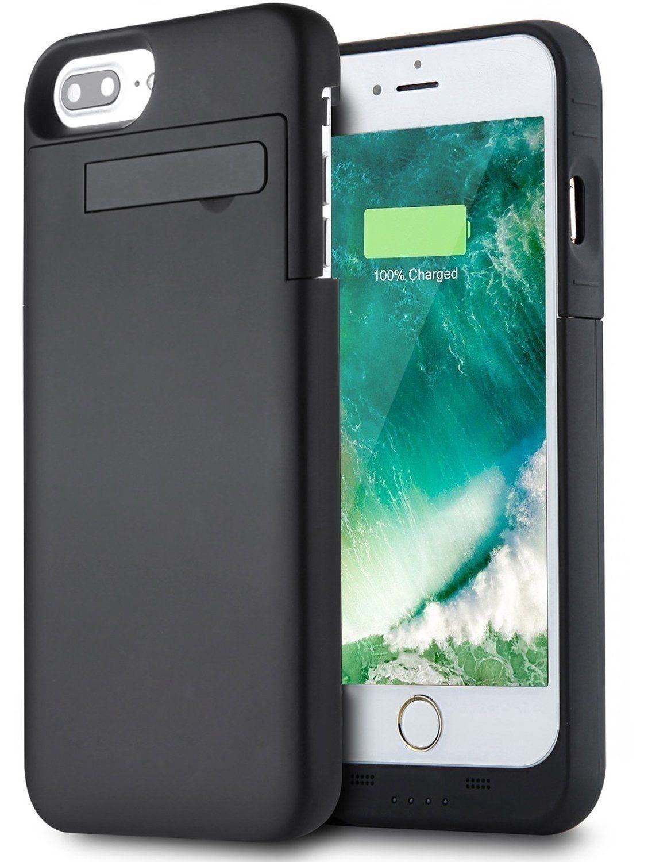 Modes Wireless Apple IPhone 8 Plus / 7 Plus / 6 Plus / 6S Plus External Battery Backup Case Charger