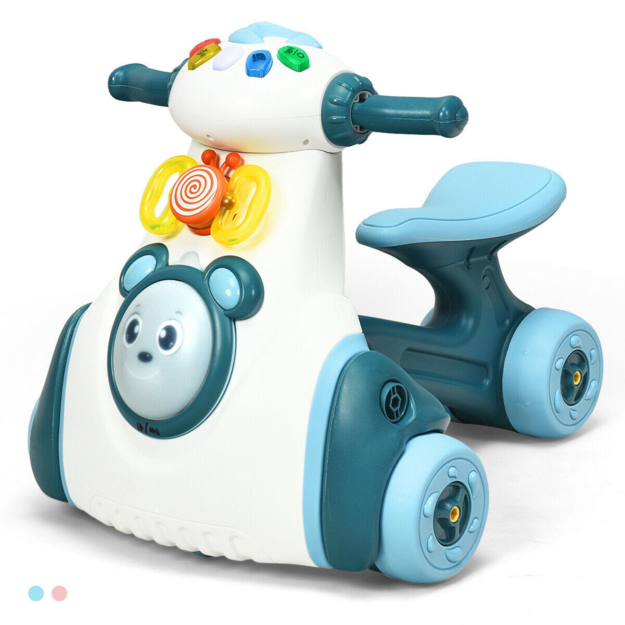 Gymax Baby Balance Bike Musical Ride Toy w/ Sensing Function & Light Toddler Walker