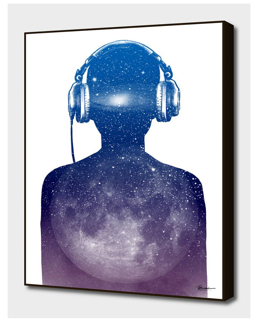 "Curioos Music Space   - Size: 16"" x 20"""