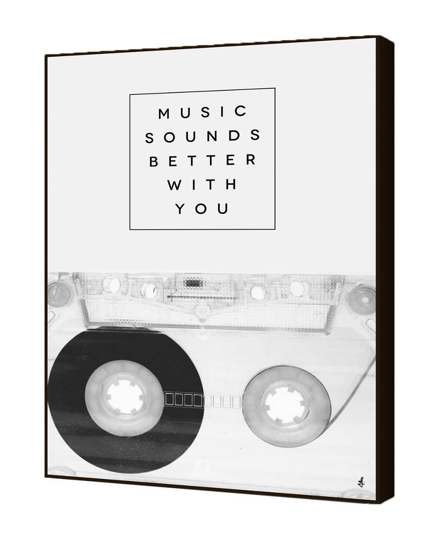 "Curioos Music Sounds Better With You by Galaxy Eyes   - Size: 28"" x 40"""