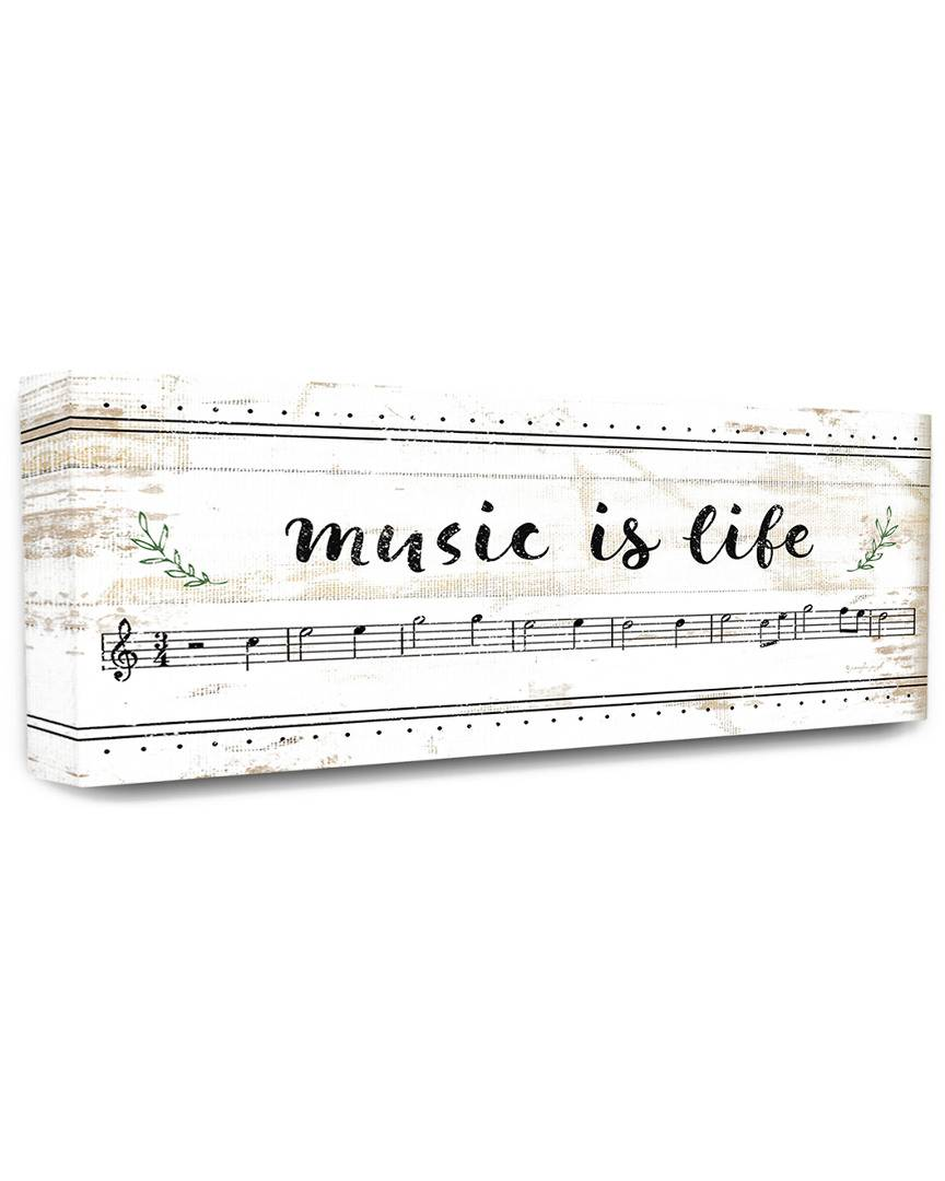 "Stupell The Stupell Home Decor Collection Music Is Life Composition Paper with Black and White Notes   - Size: 13"" x 30"""