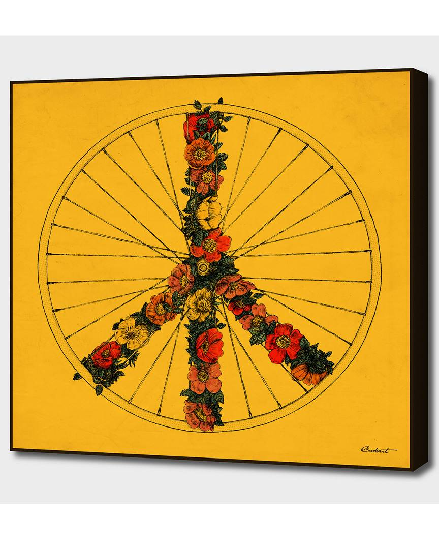 "Curioos Peace & Bike (Colors)   - Size: 16"" x 16"""