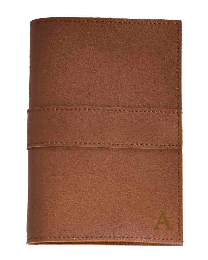 Bey-Berk Brown Leatherette Travel Charger Case & Accessories Pouch   - Size: f