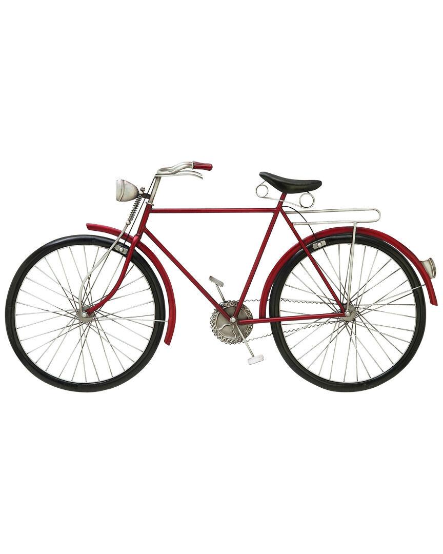 UMA Enterprises Metal Red Bike Wall Art   - Size: NoSize