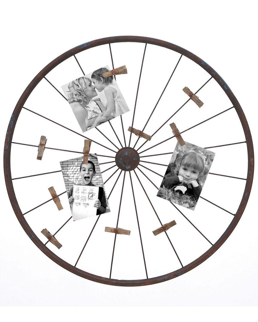 UMA Enterprises Wagon Wheel Photo Holder  -Multicolor - Size: NoSize