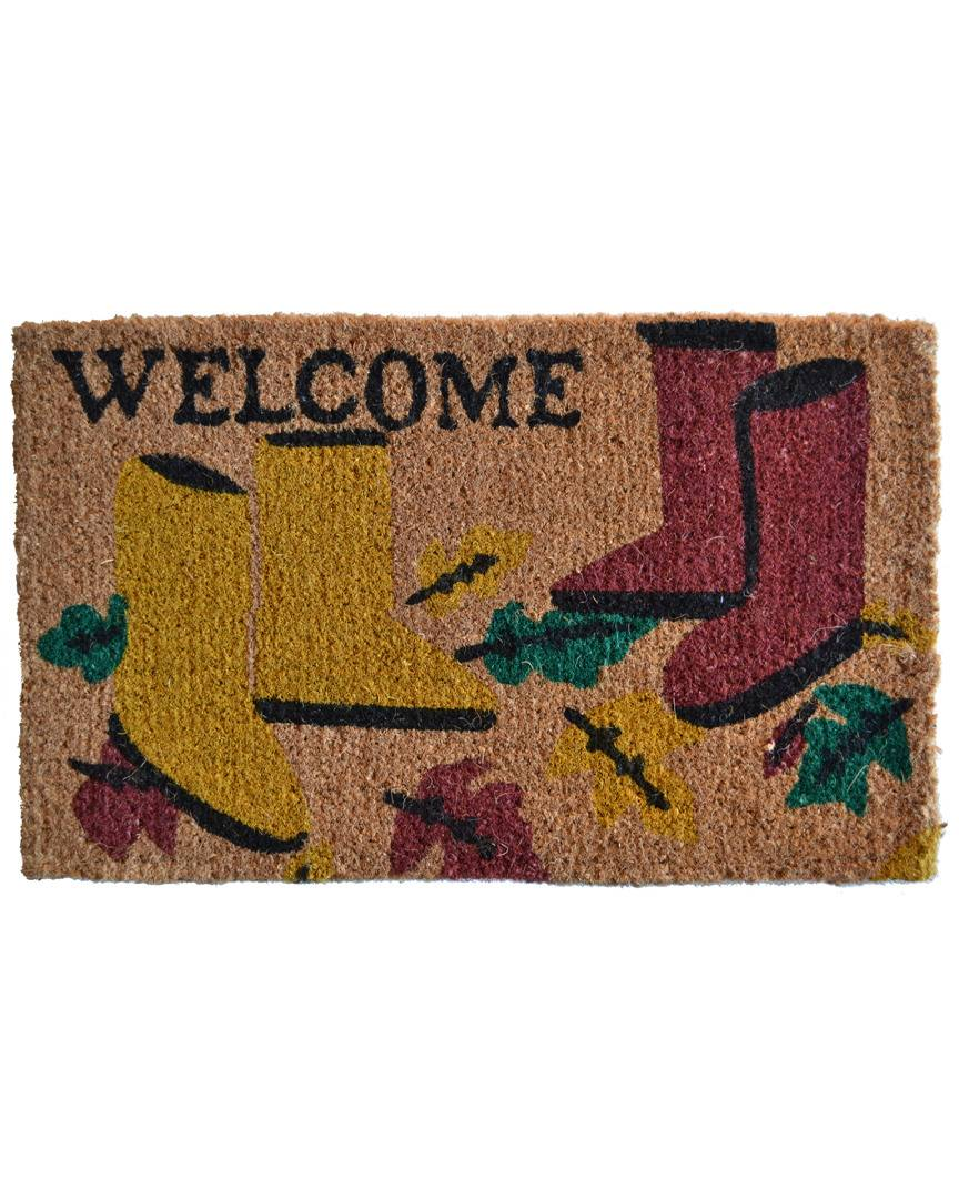 Imports Decor Garden Boot Doormat  -Multicolor - Size: 30 in x 18 in