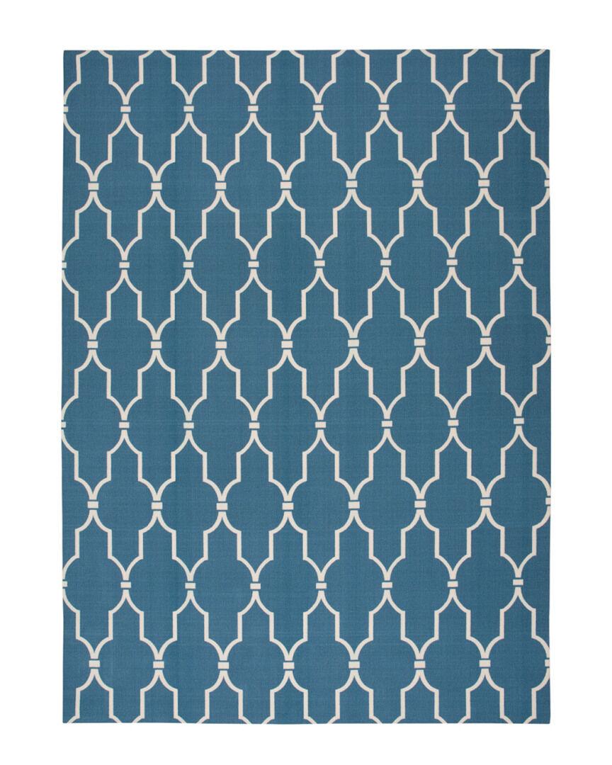Nourison Home & Garden Indoor/Outdoor Rug  -Blue - Size: 5' x 8'