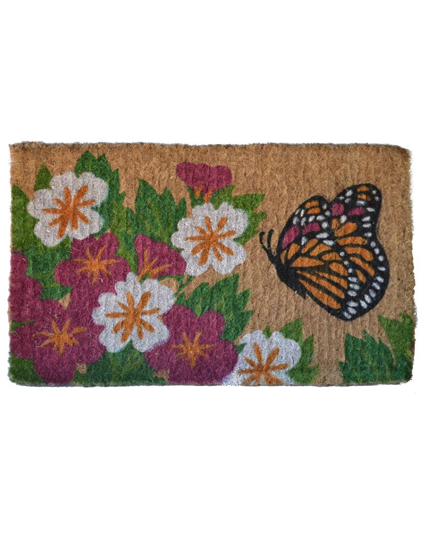 "Imports Decor Butterfly Garden Doormat   - Size: 18"" x 30"""