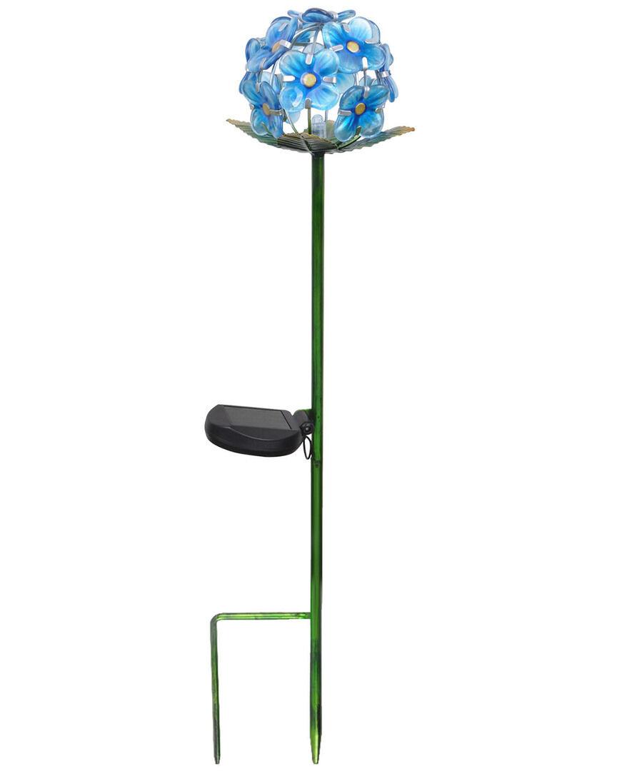Peaktop Outdoor Solar Flower Garden Stake  -Blue - Size: NoSize
