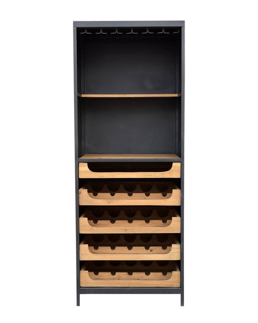 Moe's Home Collection Moe's Home Chefs Teak Wine Bar   - Size: NoSize