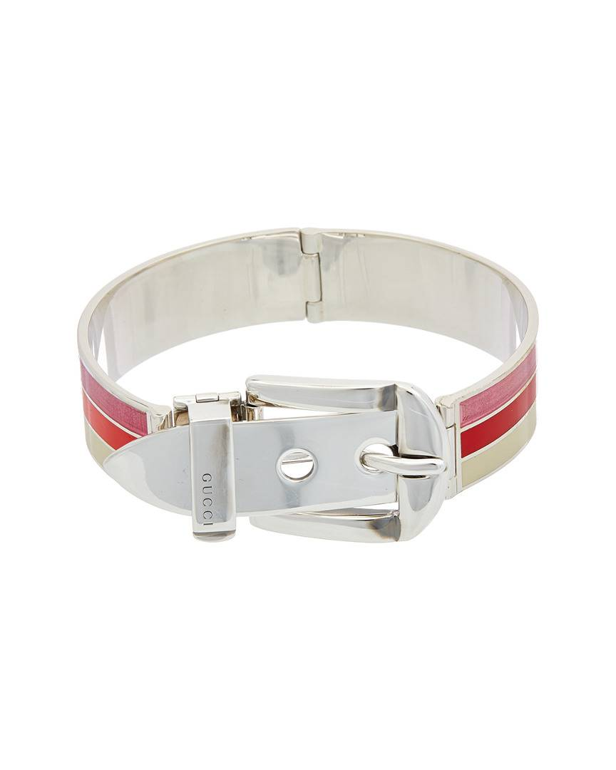 Gucci Garden Silver Bracelet  -Multicolor - Size: 7