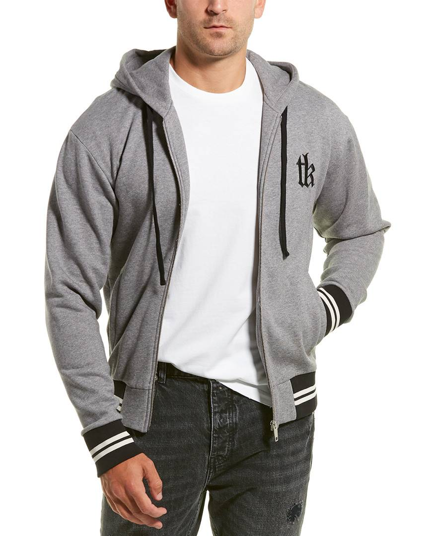 The Kooples Sport Embroidered Fleece Hoodie   - Size: Extra Large