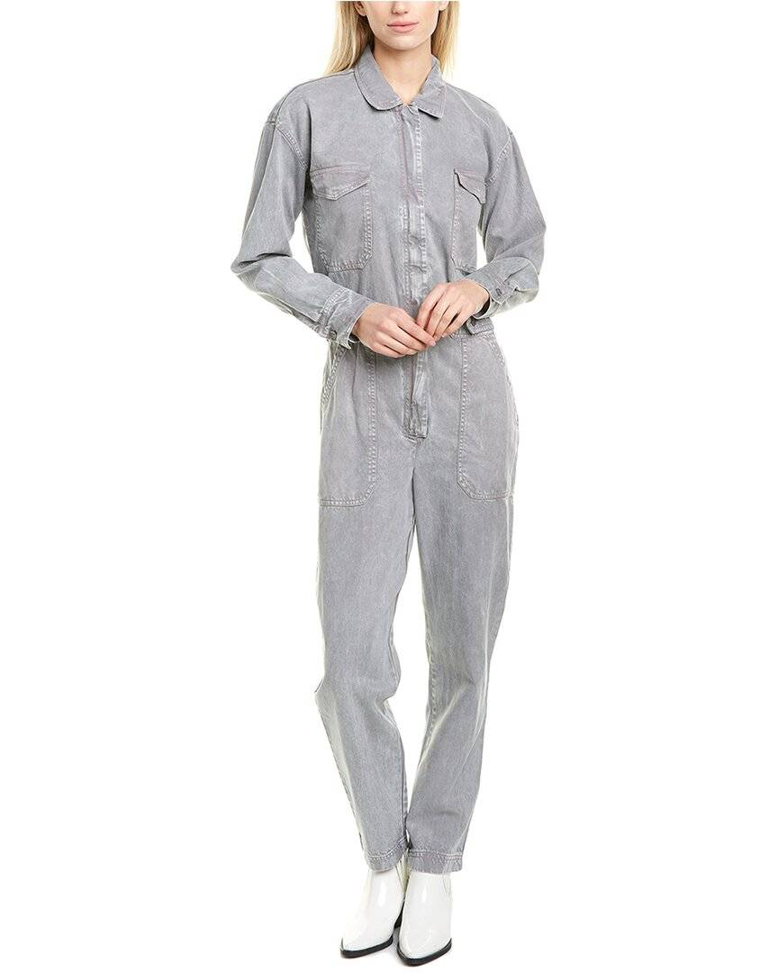 YFB Clothing Hyde Mechanic Jumpsuit  -Grey - Size: Medium