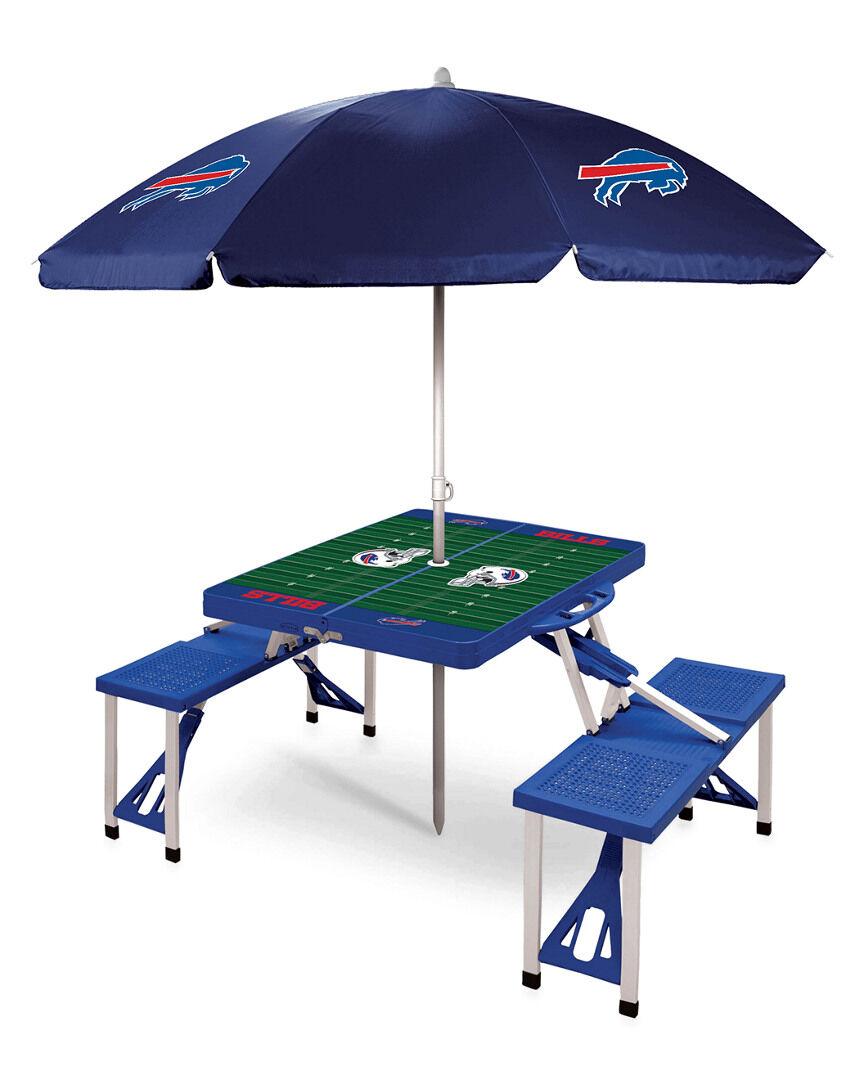 Oniva Buffalo Bills Picnic Table Sport w/Umbrella   - Size: NoSize