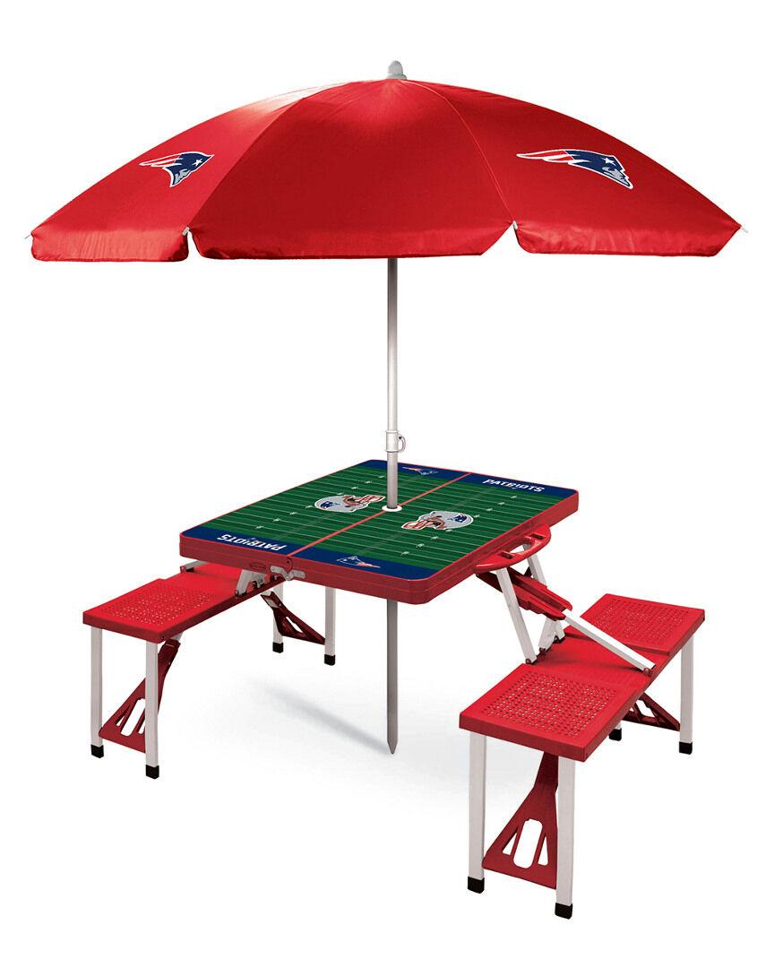 Oniva New England Patriots Picnic Table Sport w/Umbrella   - Size: NoSize