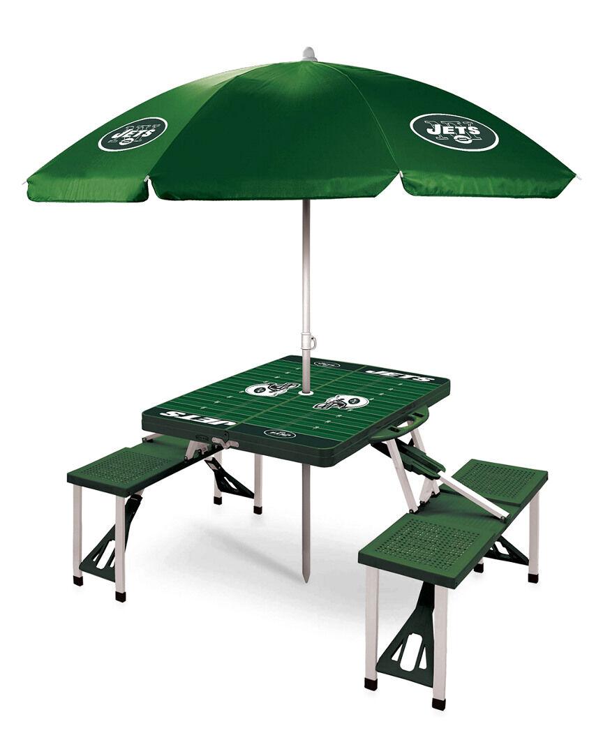 Oniva New York Jets Picnic Table Sport w/Umbrella   - Size: NoSize