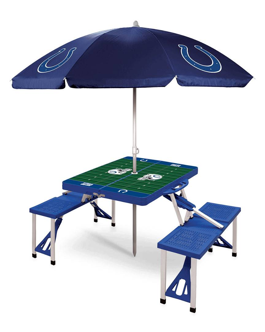 Oniva Indianapolis Colts Picnic Table Sport w/Umbrella   - Size: NoSize