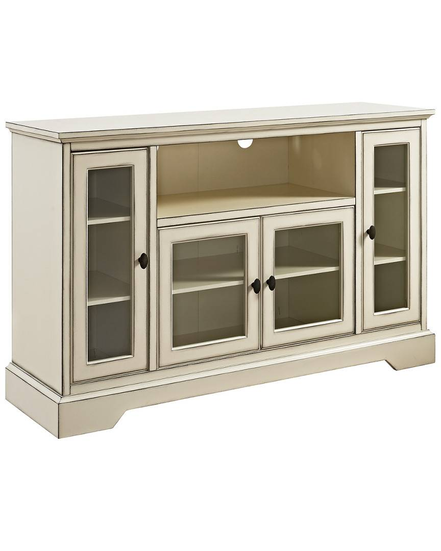 Hewson 52in Transitional Glass Wood TV Stand   - Size: NoSize