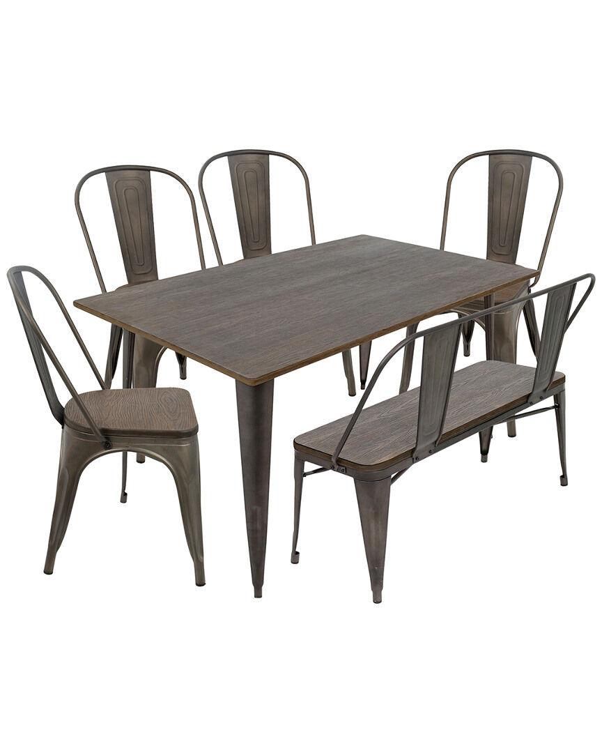 Lumisource 6pc Oregon Dining Set   - Size: NoSize