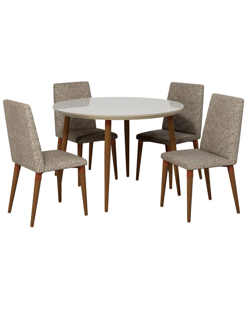 Manhattan Comfort Utopia Round Dining Table Set   - Size: NoSize