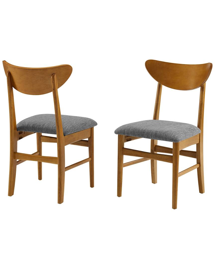 Crosley Landon 2pc Wood Dining Chairs W/Upholstered Seat   - Size: NoSize